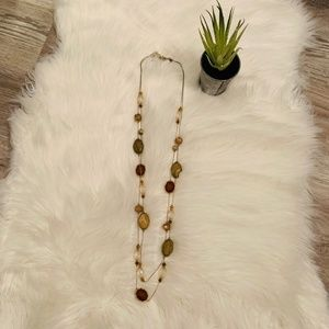 Jewelry - Layered Stone & Crystal Necklace